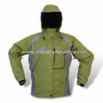 228T Taslon Breathable Skiwear with Polyester Lining and Adjustable Sleeve Cuff