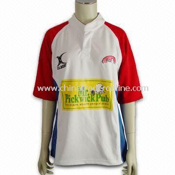 AZO-free Golf Polo Shirt, Made of Polyester and Cotton from China