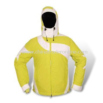 Breathable Skiwear, Made of 100% Polyester, with Attached Hood