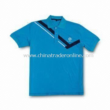 Double Mercerized Golf Polo Shirt, Made of Cotton, Comes in Various Sizes