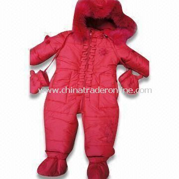 Girls Skiwear, Made of 60% Nylon and 40% Polyester, Available in Red