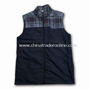 Golf Jacket, Various Sizes are Available, Made of 100% Polyester Fabric from China