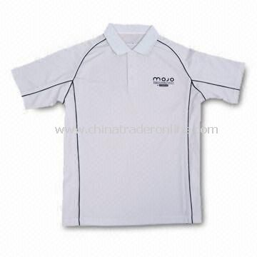 Golf Polo Shirt, Made of Dry fit Moisture Wicking Material, Customized Designs are Welcome