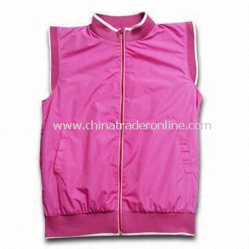 Golf Wind Rain Jacket, OEM Orders Welcomed, Made of Coated Nylon Material