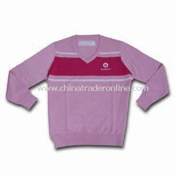 Ladies Wool Knitted Golf Sweater, Comes in Various Colors, Sizes and Styles