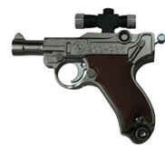 Laser pistol shaped