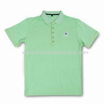 Mens Golf Polo Shirt with Anti-bacterial Treatment