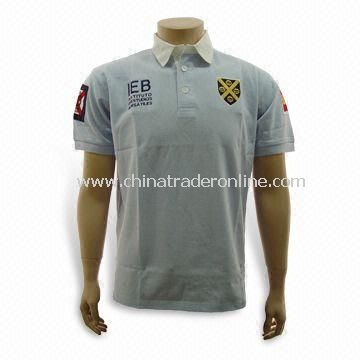 Mens polo shirt,made of 100%polyester,cool dry fabric from China
