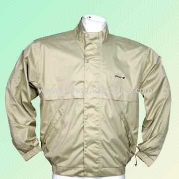 Mens Water-resistant Golf Apparel, Available in Assorted Colors and Sizes from China