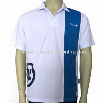 Polyester and Mesh Mens Golf Shirt, Available in Various Sizes, OEM Orders are Welcome