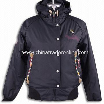 Skiwear/Topcoat with Long Sleeves, Suitable for Women, Made of 100% Polyester