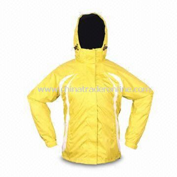 Skiwear with Waterproof Feature and Pongee/PU Shell
