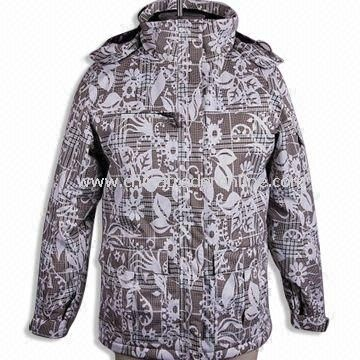 Womens Topcoat/Ski Wear, Made of 100% Polyester, Available with Printing