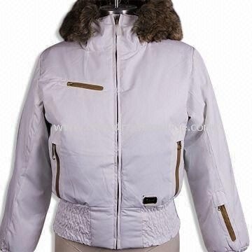 Womens Topcoat/Ski Wear with Zipper on Front, Made of 100% Nylon