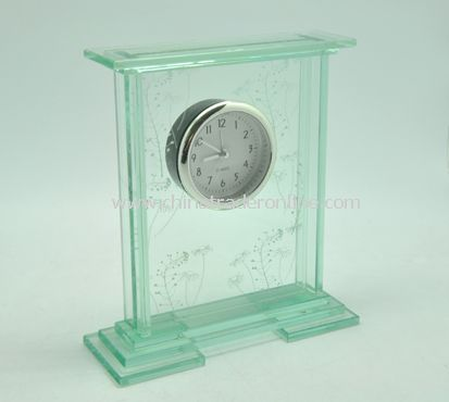 GLASS TABLE CLOCK from China