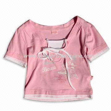 100% Cotton Kids T-shirt, Various Colors and Designs are Available
