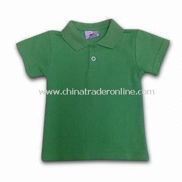 Children T-shirt/Tees/Top with Embroideries Feature, Made of 100% Cotton