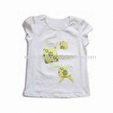 Colorful Children T-shirt/Tees/Top, Made of 100% Cotton, Customized Styles are Accepted
