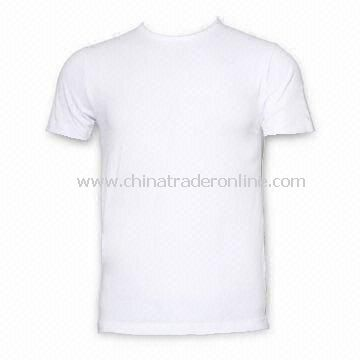 Promotional T-shirt, Made of Cotton and Single Jersey and Compressed Packing with European Size