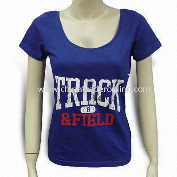 Promotional Women T-shirt, Customized Sizes are Welcome
