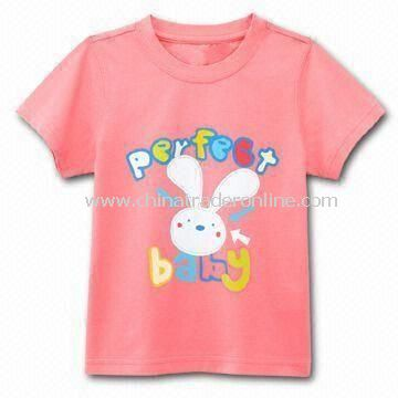 T-shirt for Children, Customized Designs, Logos, and Fabrics are Welcome, Made of 100% Cotton