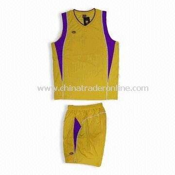 100% Polyester Basketball Jersey, Customized Designs are Accepted