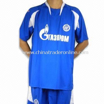100% Polyester Soccer Jersey with Interlock Neck Trim, OEM Orders are Welcome