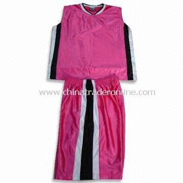 100% Poyester Basketball Jersey with Dry Fit Function