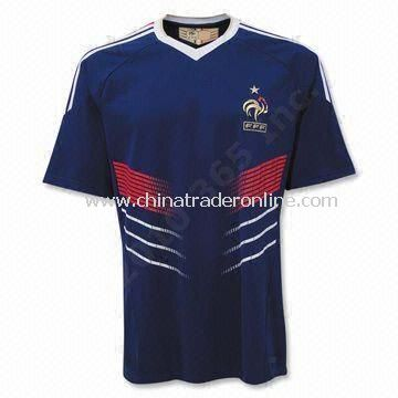 145gsm 100% Polyester Jersey, Suitable for Soccer Purposes, Available in Various Sizes