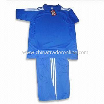 Blue Color Soccer Jersey, Made of 100% Polyester, Customized Designs are Accepted