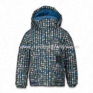 Boy Mini Shred Fray Skiwear with DWR Coating and Taffeta Lining from China