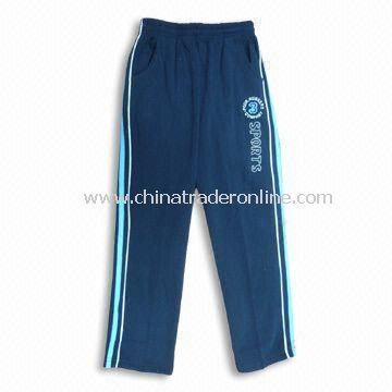 Boys Sports Pants with 100% Polyster and 240 to 260g Fabric Weight