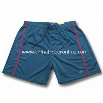 Boys Sports Shorts in Various Colors and Sizes, Made of Coolmax from China
