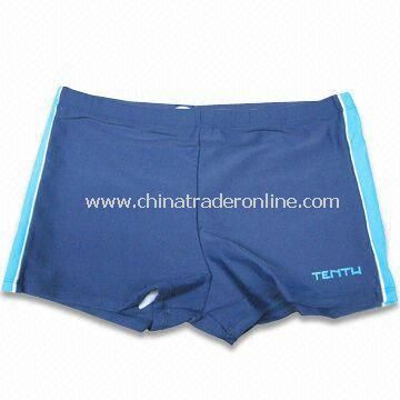 Boys Swimming Wear, Made of 82% Nylon and 18% Spandex from China