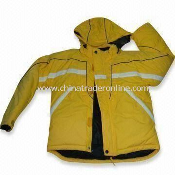 Childrens Ski Wear, Made of Nylon Fabric, Fixed with Removable Hood from China