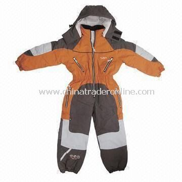 Childrens Skiwear Made of Taslon with Oxfod Nylon Reinforce and 190T Polyester Lining from China
