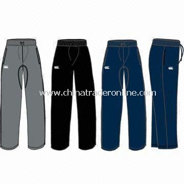 Childrens Sports Knit Short, Combination Sweat Pant, Made of Cotton and Polyester Fleece