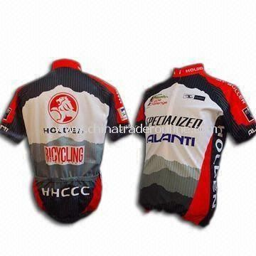 Cycling Jersey, Weighs 130gsm, with Full Heat-transfer Sublimation Printing