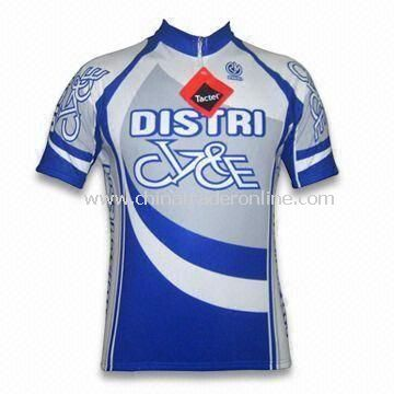 Cycling Jersey with Full Heat-transfer Sublimation Printing, Available in EU Size of S to XXL