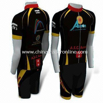 Cycling Jersey with Full Heat Transfer Sublimation Printing, Available in EU Size of S to XXL