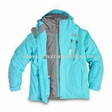 Girls Blue Breeze 3-in-1 Skiwear with Fully Seam Sealed Outer Shell and Polyurethane Coating from China