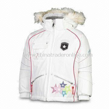 Girls White Bitsy Volt Ski Wear with XL Coating and Thermosoft Insulation