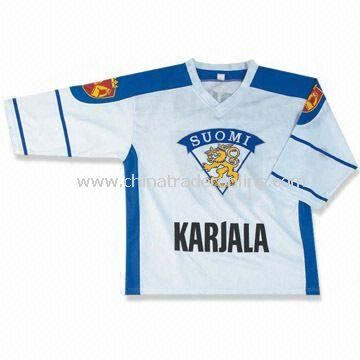Hockey Jersey, Customers Designs are Accepted, Made of 100% Polyester
