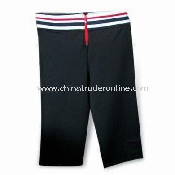 Knitted Sport Pants, Customized Designs are Accepted, Available in Various Sizes