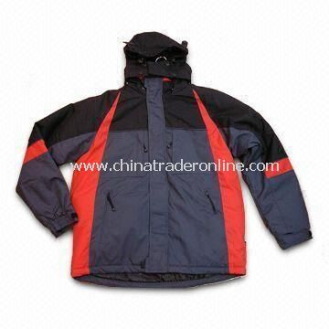 Mens Skiwear with Polyester Taffeta Lining and Nylon Taslon Outsole