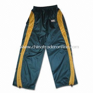 Mens Sports Pants, Made of Micro Honeycomb, Available in Black
