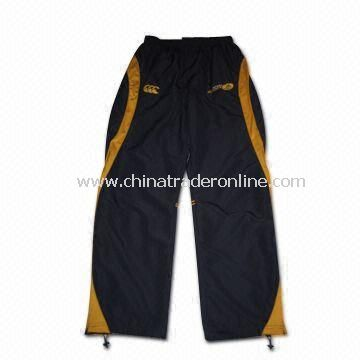 Mens Sports Pants for Australia Team Training, Made of Polyester Double Weave from China