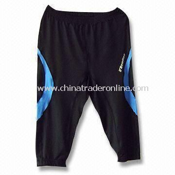 Mens Sports Pants in Black and Blue with Wicking Feature