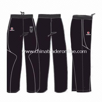 Mens Sports Pants with Hydrophilic Clear Coating, Made of 100% Polyester Honeycomb from China