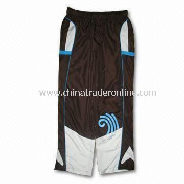 Mens Tricot Mesh Basketball Shorts with Bespoke Labels and Embroidery Logo at Side
